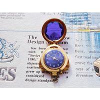 Механические часы-кулон Заря (СССР, 21 камень), Au5, симпатичные
