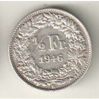 Швейцария 1/2 франк 1946
