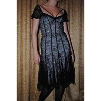 """Фирменное вечернее платье,из шикарного чёрного гипюра,-Seam creative line""""МАЛЕНА"""",размер-(42/44),-на рост 164-175.НОВОЕ!Фабричная ТУРЦИЯ."""