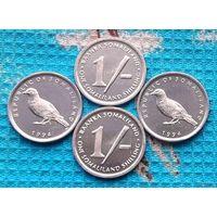 Сомали 1 шиллинг 1994 года. UNC. Сомалийский голубь. Сомалиленд. Супер цена!