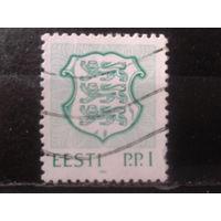 Эстония 1992 Стандарт, герб р.р.I Михель-1,7 евро гаш