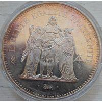 35. Франция  50 франков 1977 год, серебро*