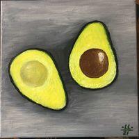 Картина маслом Авокадо - современная живопись