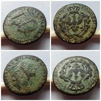 1 грош 1797 года +1 шеляг (боратинка) 1663 олива, нечастый!!! Состояние монет на фото!!! С 1 рубля!!!