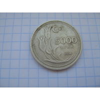 Турция 5 000 лир 1994г.km1025