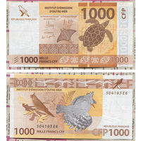 Распродажа коллекции. Французские Тихоокеанские Территории. 1 000 франков 2014 года (Р-6а. 2014 ND Issue)