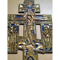 Крест с предстоящими, эмали. С рубля, без МЦ.