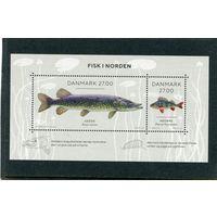 Дания. Рыбы северных морей, блок