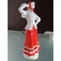 Фарфоровая статуэтка Русский танец (Плясунья с платочком). ЛФЗ