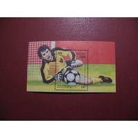 Блок Футбол Италия 90 Кампучия (Камбоджа) 1989 год