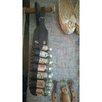 ЭКСКЛЮЗИВ !!Коллекция порожних бутылочек .Патронташ , с одним холостым- на всякий пожарный !!!ПОДАРОК ОХОТНИКУ !! Германия