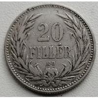 Венгрия 20 филлер 1893