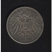 5 марок 1898 г. Пруссия. Серебро.