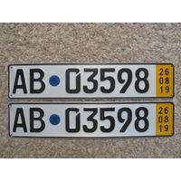 Автомобильный номер Германия AB03598