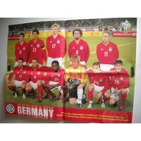 Настенный постер сборной Германии по футболу ЧМ 2006 г.