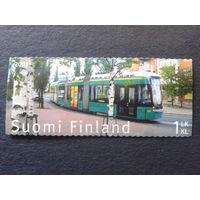 Финляндия 2007 трамвай марка из буклета