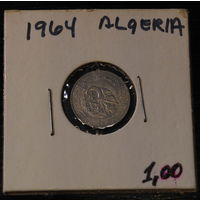 Алжир, 1 сентиме, 1964г.