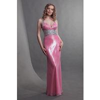 Шикарнейшее розовое вечернее платье, р-р 42-44
