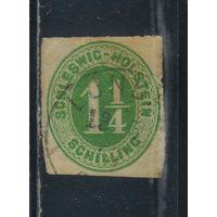 Шлезвиг-Гольштейн Германия 1865 Номинал Стандарт #9