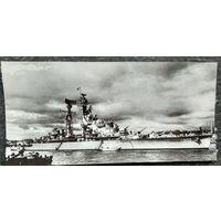 Крейсер  HNLMS De Zeven Provincien (С802). Нидерланды. Фото 1956 г. 10х20 см.