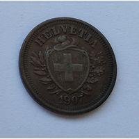 Швейцария 1 раппен, 1907 7-5-24