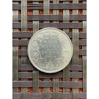 Британская Индия 1/2 рупии 1899 г., редкость