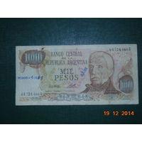 Аргентина 1000 песо 1976-83гг.