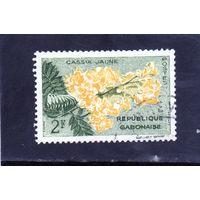 """Габон. Ми-162.Флора.Дерево Золотой Душ ( """"deareana""""). 1961."""