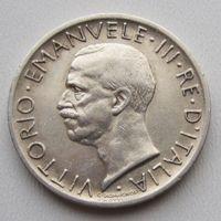 Италия, 5 лир, 1927, серебро