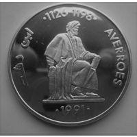 Испания, 5 экю, 1991, серебро