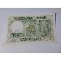 Бельгия 50 франков (10 бельгас) 1945 год состояние UNC