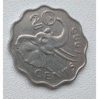Свазиленд 20 центов, 1986 6-5-26