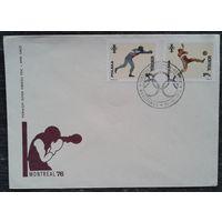 Конверт. Летние Олимпийские игры в Монреале. 1976 г. Польша. Марки и спецгашение.