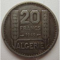 Алжир 20 франков 1949 г. (u)
