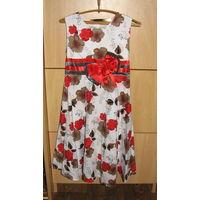 Платье девочке 6-9 л. хлопок