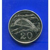 Зимбабве 20 центов 2002 UNC